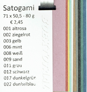 Monsterboekje Satogami