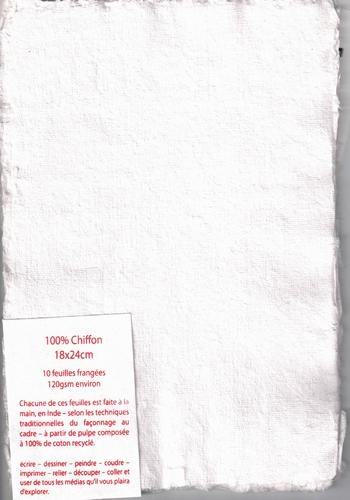 Lompenpapier pakje van 10 vellen - 18x24 cm - Wit
