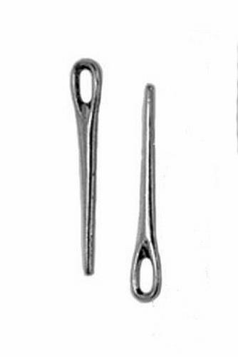 Closure pin silver colored