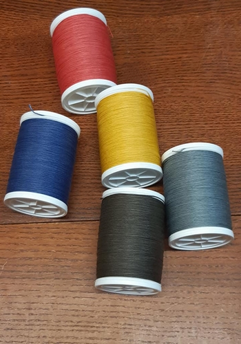 Sewing Thread gray brown - 10 meters on a card