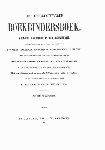 Het geïllustreerde boekbindersboek
