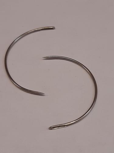 Naald krom - Ø 3,2 cm - pakje 12 stuks