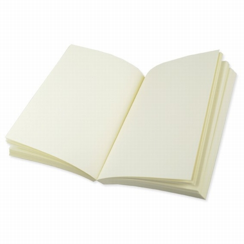 Buchblock blanko geripptes Papier - cremefarbig