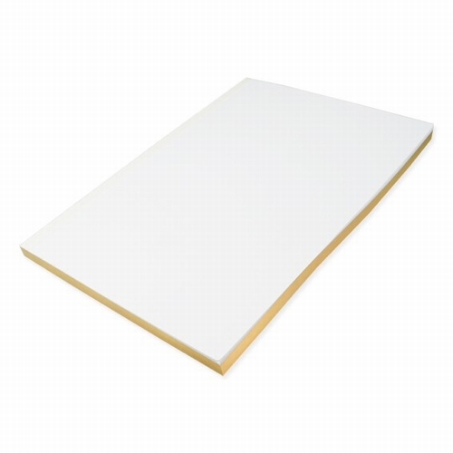 Journal - white - golden edge