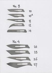 Scalpelmesjes voor scalpel nr. 4