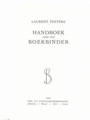 Handboek voor den Boekbinder