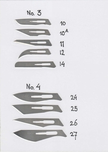 Scalpel Blade for scalpel nr. 4