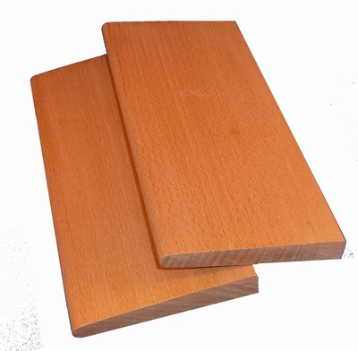 Pressing boards for treating the edges