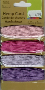 Hemp Cord - Purple/Pink