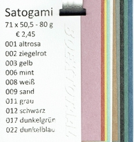 Monsterboekje Satogami