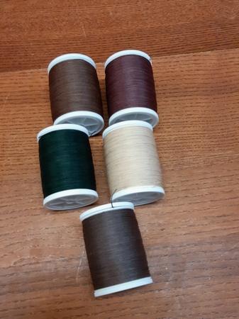 Sewing Thread dark brown - 10 meters on a card