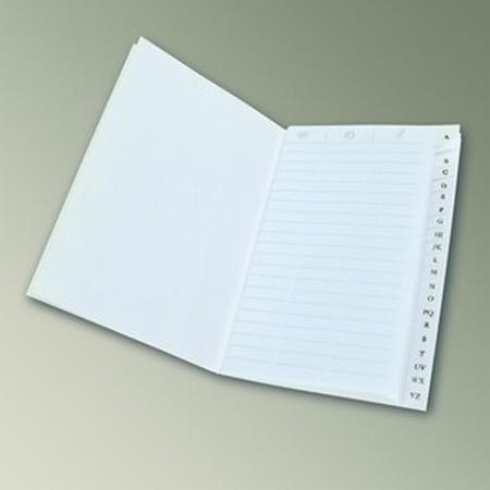 Adressenbuch - weißfarbig