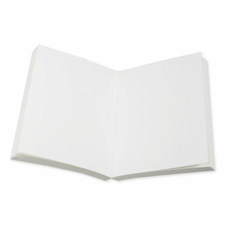 Buchblock blanko - cremefarbig Recyclingpapier